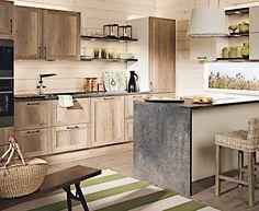 Pirtti - country tammi. Furniture, Kitchen Remodel, Home Decor, Cottage Kitchen, Kitchen Faucet, Kitchen, Kitchen Dining, Wood Cabinets, Weathered Wood