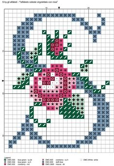 I alfabeto celeste virgolettato con rosa ile ilgili görsel sonucu Cross Stitch Letters, Cross Stitch Rose, Cross Stitch Borders, Cross Stitch Flowers, Cross Stitch Charts, Cross Stitch Designs, Cross Stitching, Cross Stitch Embroidery, Embroidery Patterns