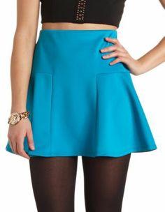 Dropped Waist Skater Skirt  SO cute
