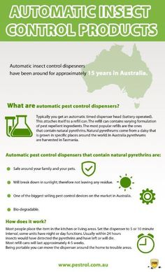 Automatic #insect control dispensers have been around for approximately 15 years in #Australia. #PestControl