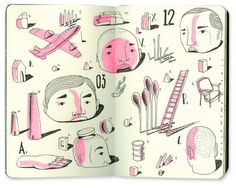 Bryce Wymer Process blog: Epic Migrations {Sketchbooks}