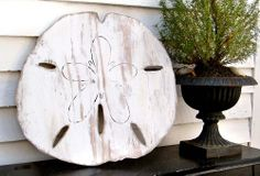 Oversized Sand Dollar Sign Giant Sand Dollar Coastal Style Wooden Sand Dollar Beach Cottage Decor Gu This sand dollar is bigger than anything you would ever find on the beach, and it is in one piece, unlike what I seem to find on the beach. Beach Cottage Style, Beach Cottage Decor, Coastal Cottage, Coastal Homes, Coastal Style, Coastal Decor, Coastal Living, Coastal Farmhouse, Cottage Ideas