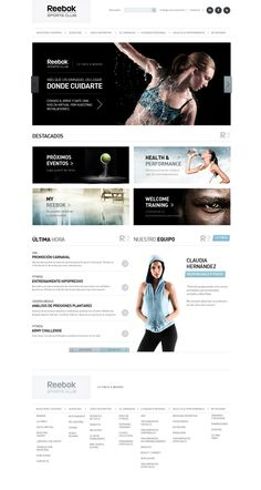 Reebok Sport Club on the Behance Network