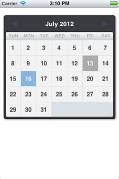 Good-looking calendar view for iOS