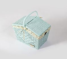 "Blue Basket  ""Yellow Woodpecker"""