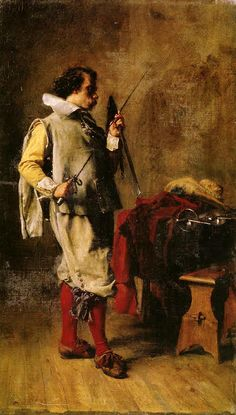 Jean Louis Ernest meissonier - Man choosing a sword, 1851