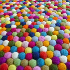 pompom rug! We are going to make this rug! Candy themed rug!