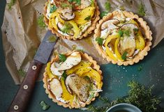 Tartelettes mit Steinpilzen, Fenchel und Paprika