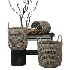 Constructed from seagrass rope Modern Farmhouse Design, Farmhouse Interior, Rustic Farmhouse, Coastal Furniture, Coastal Style, Furniture Collection, Neutral Colors, Warm And Cozy, Flooring