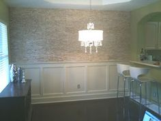 Another Option For My Formal Dining Room Accent Wall Stacked Stone Veneers Crown Molding