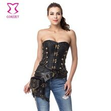 Black Vintage Gothic Corset Steampunk Clothing Corpetes E Espartilhos Sexy Corsets And Bustiers Plus Size Korsett For Women XXXL //Price: $US $40.11 & Up To 18% Cashback //     #gothicoutfit