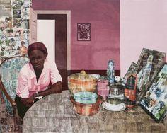 Njideka Akunyili Crosby's Intimate Scenes of Domestic Life | Hi-Fructose Magazine