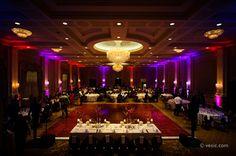 North Carolina Dramatic Purple Indian Wedding Reception via IndianWeddingSite.com
