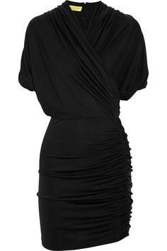 Draped silk-jersey dress, Catherine Malandrino
