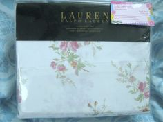 RALPH LAUREN 4PC Queen Sheet Set - SWEET PINK FLORAL - SOFT 100% COTTON $89.95