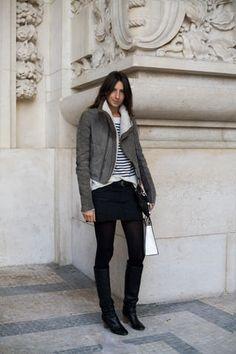 chouette veste grise.