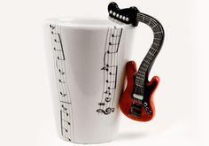 Guitar Red | Music | Coffee Mugs | Blue Witch Ceramics