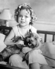 Shirley Temple, so adorable, love her puppy too!