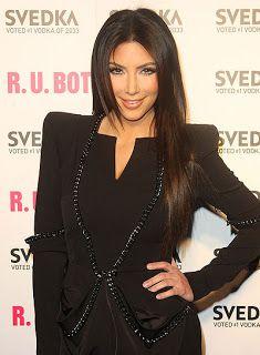 Kim Kardashian With Straight Hair Kim Kardashian Long Straight Brunette Hairstyle Kim Kardashian
