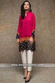 Buy latest Pakistani and Indian Designer Dresses Online. Stylish Dress Designs, Designs For Dresses, Stylish Dresses, Simple Dresses, Casual Dresses For Women, Clothes For Women, Pakistani Fancy Dresses, Pakistani Fashion Casual, Pakistani Dress Design