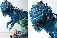 Hiroshi Fuji& 50000 recycled toys installation in Tokyo Paper Installation, Artistic Installation, Recycled Toys, Recycled Materials, Recycle Plastic Bottles, Japanese Artists, Green Building, Urban Art, Fuji