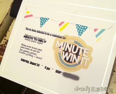 Family Game Night � Minute to Win It