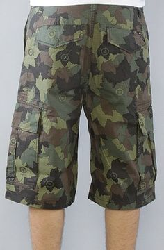 LRG Core Collection The Core Collection Classic Cargo Shorts in Olive Camo,Shorts for Men $59.00