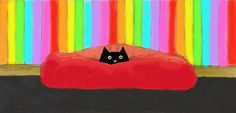 My Bed! - Toni Goffe   (love the Colors)
