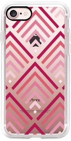 Casetify iPhone 7 Classic Grip Case - Pink Gradient Mountains by MYbyDesigns #Casetify