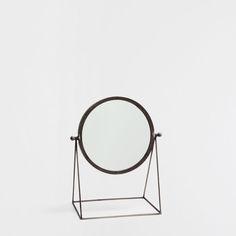 MIROIR PIED MÉTALLIQUE NOIR - Miroirs - Décoration | Zara Home France