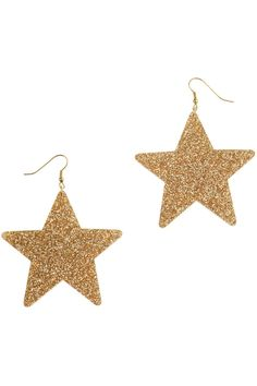 Designer Clothes, Shoes & Bags for Women Christmas Earrings, Christmas Jewelry, Gold Christmas, Star Jewelry, Cute Jewelry, Gold Jewelry, Jewellery, Gold Star Earrings, Unique Earrings