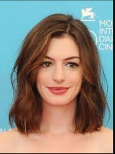 Medium length haircut suitable for round face