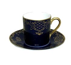 Rosenthal Classic Rose Demitasse Espresso Cup Germany Cobalt Blue & Gold Scrolls #Rosenthal Coffee Set, Coffee Cups, Cobalt Blue, Blue Gold, Tea Cup Set, Espresso Cups, Makers Mark, Cup And Saucer, Germany