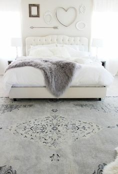 schlafzimmergestaltung ausgefallenes wanddesign schoener teppich