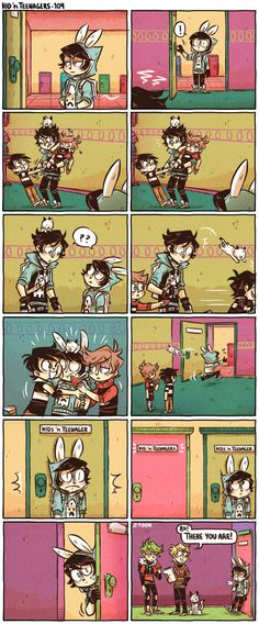 Read 98 from the story Kid n Teenagers Comics by Ms_foofy (Ms. Foofy) with reads. Cute Comics, Funny Comics, Z Toon, Rage Comic, 4 Panel Life, Kid N Teenagers, Comics Story, Short Comics, Fandoms