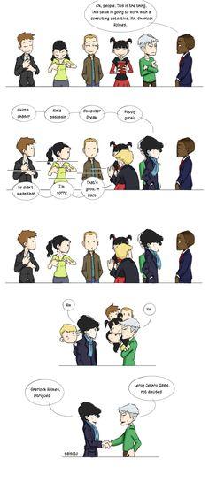NCIS meets Sherlock not in the Sherlock fandom but I do love me some NCIS