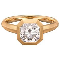 Engagement Ring Types, Vintage Engagement Rings, Jewelry Rings, Fine Jewelry, Jewellery, Diamond Solitaire Rings, Yellow Gold Rings, Antique Gold, Diamond Cuts