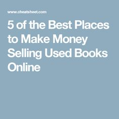 Best Price Recommendations With one simple search we connect you to various companies buying used textbooks online. By comparing textbook buyback prices, .