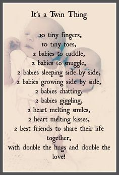 poems for twins girls | Welcome to Twinlifeonline shared by www.twinsgiftcompany.co.uk