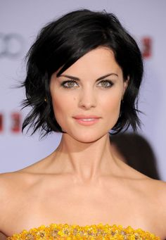 Jaimie Alexander, great bob. Easy but glam too.
