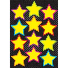 Die-Cut Magnets, Yellow Stars, ASH10140