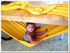 Truco para padres: hamaca para bebes casera                                                                                                                                                                                 Más