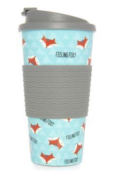 Primark - Feeling Foxy Thermal Mug Girls Cup, Growing Up Girl, Thermal Mug, Fox Print, Drink Bottles, Water Bottles, Blog Writing, College Girls, Mug Cup