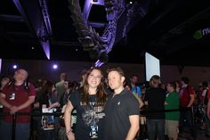 Talented singer/songwriter Malukah spending some time with a fan at the ESO booth.