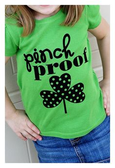 I'm gonna make a big girl version of this! St. Patrick's Day shirt: Silhouette tutorial