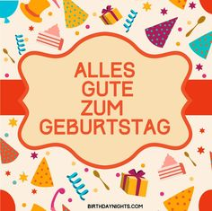 German Happy Birthday Wishes Collection Printable Cards Animated