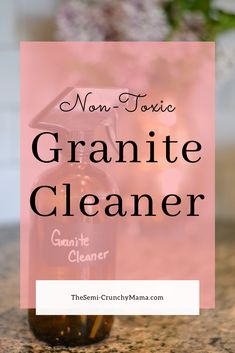 Make your own granite cleaner for cheap! This easy recipe will do a great job cleaning your countertops and is safe for kids and pets! Homemade All Purpose Cleaner, All Purpose Cleaners, Cleaners Homemade, Diy Cleaners, Cleaning Solutions, Cleaning Hacks, Granite Cleaner, How To Clean Granite, Glass Spray Bottle