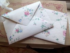 Reasons To Be Beautiful Magazine | How To Make Wallpaper Envelopes!