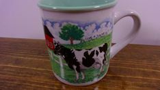 Cape Shore Wisconsin Dairy Farm Mug Dairy Cows Farmyard Cup by S.W. Earle Mug #CapeShore #AllOccasions