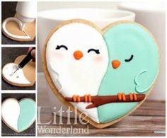 Valentine's Day Love Bird Cookies